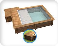 Piscina in legno URBAN 420x350 Kit PRO