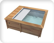 Piscina in legno URBAN 420x350 Kit STANDARD