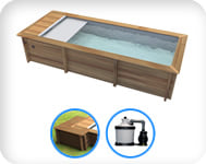 Piscina in legno URBAN 600x320 Kit EASY