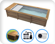 Piscina in legno URBAN 600x320 Kit PLUS