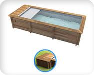 Piscina in legno URBAN 600x320 Kit PRO