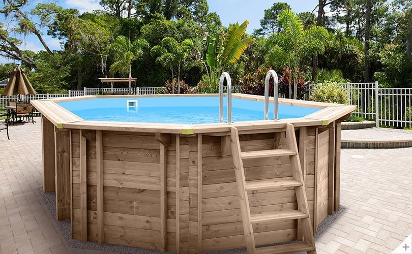 Rivestimento In Legno Per Piscine Fuori Terra : Piscina in legno fuori terra jardin 490 piscine italia