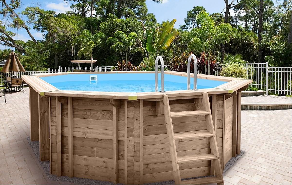 Piscina Da Esterno Fuori Terra piscina in legno fuori terra jardin 490
