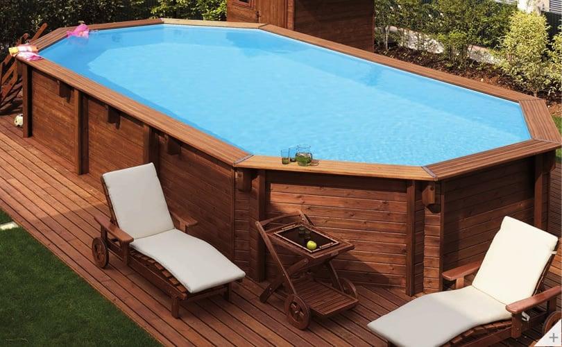 Rivestimento In Legno Per Piscine Fuori Terra : Piscina in legno fuori terra jardin 607 piscine italia