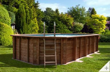 Piscina in legno da giardino Jardin 607, installazione interrata