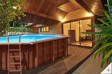Piscina in legno da giardino Jardin 727, installazione interrata