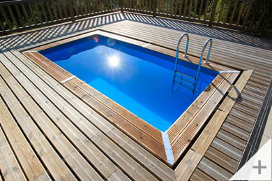 Piscina in legno da giardino Urban Pool 450x250 Liner azzurro, installazione interrata