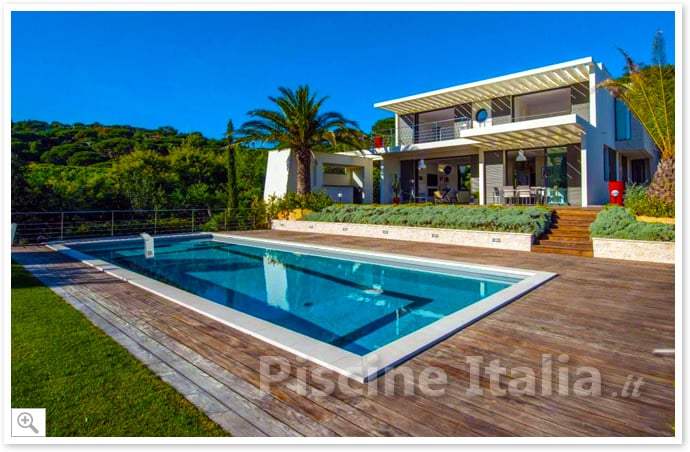 piscineitalia piscina interrata kit pannelli acciaio residential pool 7x4 m. Black Bedroom Furniture Sets. Home Design Ideas