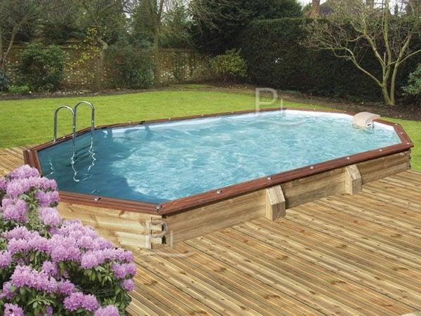 Piscineitalia piscina fuori terra in legno jardin malibu for Piscina esterna legno