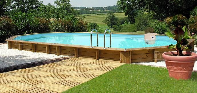 Piscina fuori terra in legno jardin 727 kit interrata - Piscine fuori terra vetroresina ...