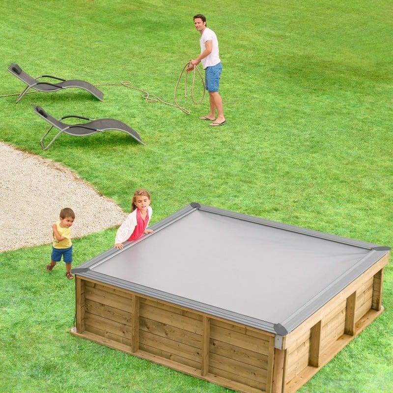 Piscineitalia piscina fuori terra in legno rettangolare for Piscine fuori terra per bambini