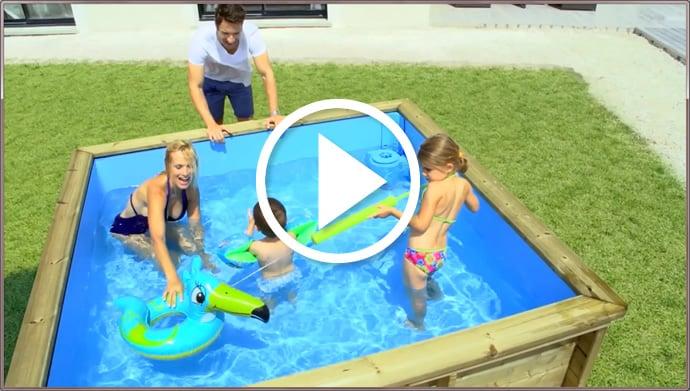 Piscineitalia piscina fuori terra in legno rettangolare for Piscine pistoche
