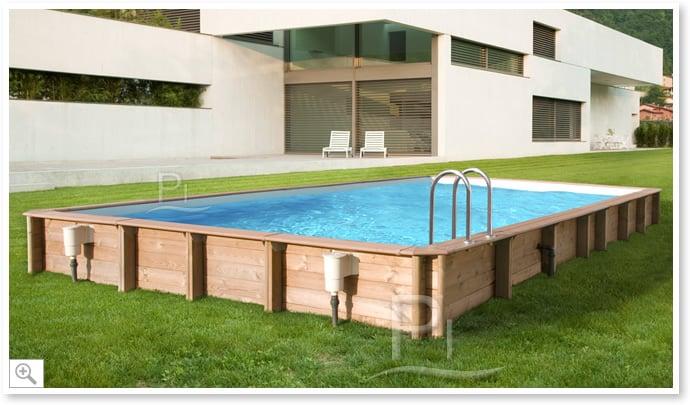 Piscina in legno fuori terra rettangolare gloria 10x5 for Piscina fuori terra 10x5 prezzi