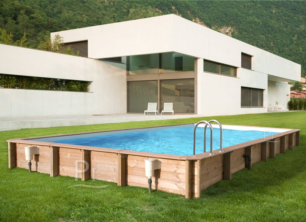 piscina in legno fuoriterra rettangolare jardin carre 6x4 piscine italia. Black Bedroom Furniture Sets. Home Design Ideas