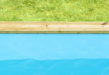 Kit piscina della  piscina in legno fuori terra da esterno Urban Pool 450x250 Liner azzurro: rivestimento interno