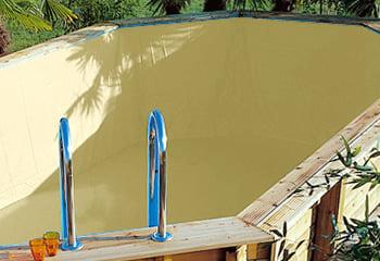 Kit piscina della  piscina in legno fuori terra da esterno Ocean 580 Liner sabbia: rivestimento interno o LINER sabbia