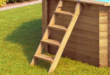 Piscina fuori terra in legno tropic 505 for Piscina esterna legno