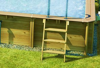 Piscina in legno fuoriterra rettangolare gloria 3x3 for Piscina esterna legno
