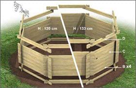 Piscina fuori terra in legno tropic 505 - Rivestire piscina fuori terra fai da te ...