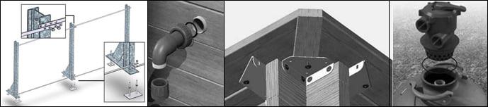 Piscina in legno fuoriterra rettangolare gloria 3x3 for Piscina 5x3 fuori terra