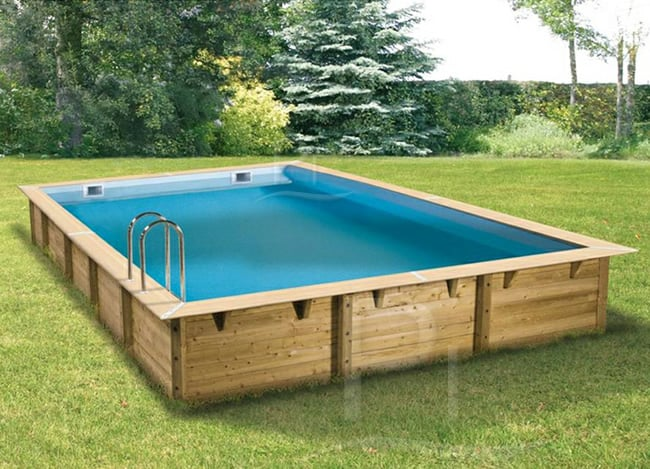 Piscineitalia piscina fuori terra in legno jardin deluxe 850 for Piscina esterna legno