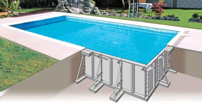 1 piscina interrata kit pannelli acciaio futura classica - Piscine interrate in acciaio ...