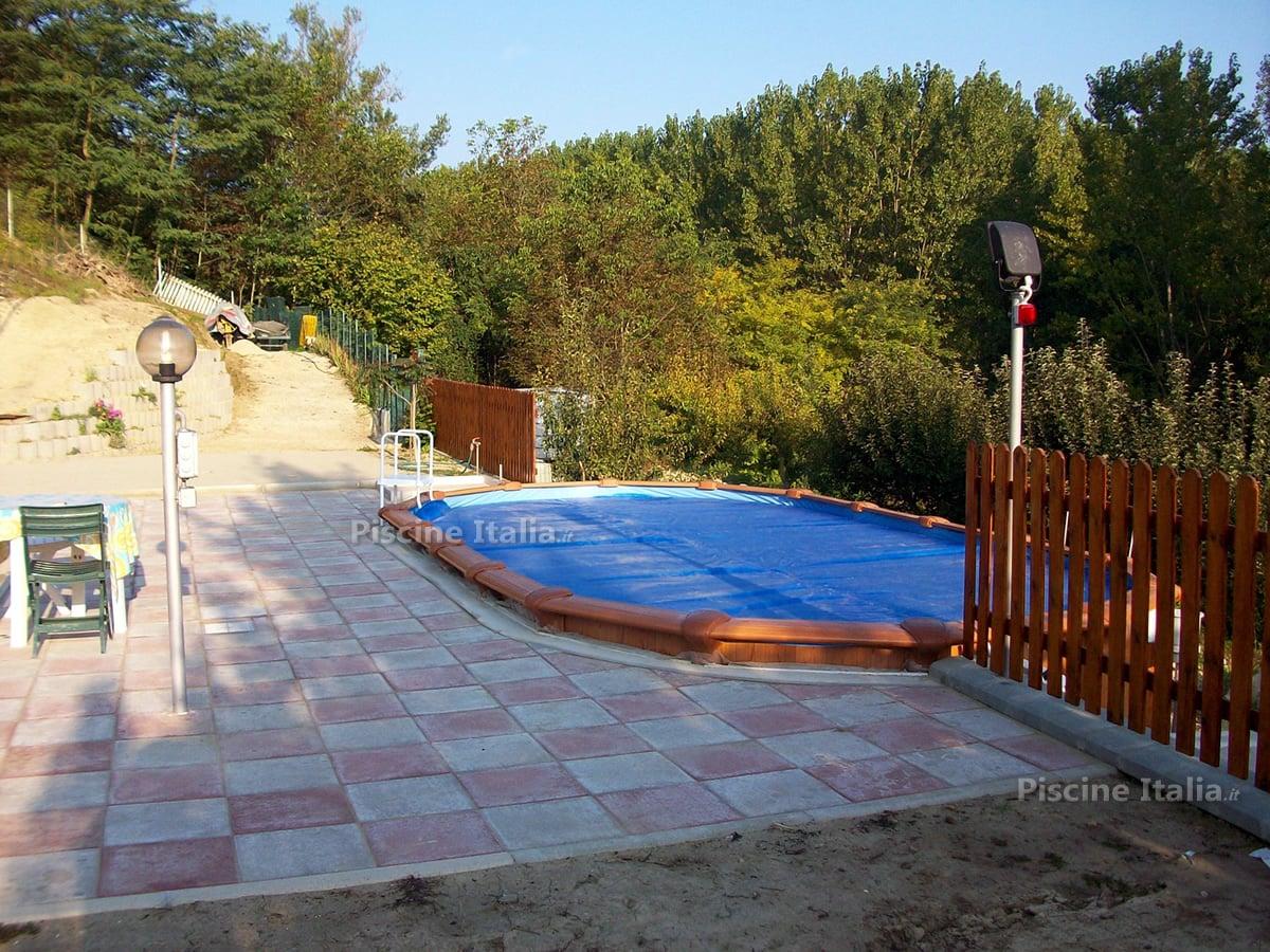 Piscineitalia piscina fuori terra in acciaio osmose for Interrare piscina