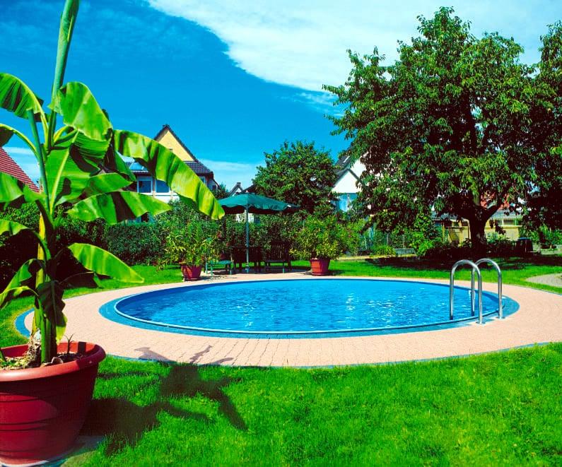 Piscineitalia kit piscina interrata in acciaio skyblue for Piscina acciaio