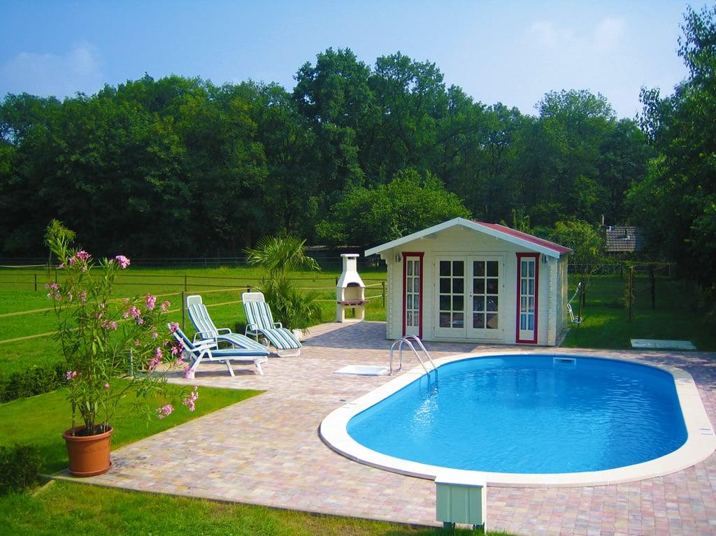 Kit piscina interrata in acciaio skyblue comfort 700 h - Piscine interrate in acciaio ...