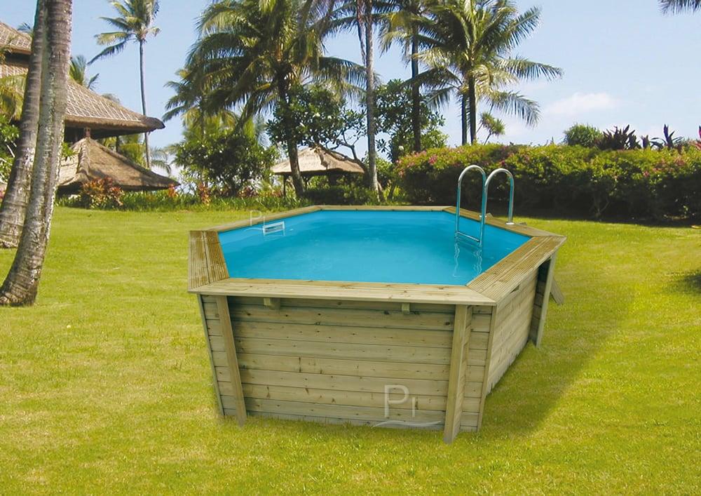 Piscina in legno fuori terra azura 410 piscine italia for Piscina le grazie