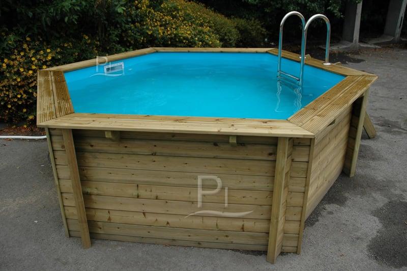 Piscina in legno fuori terra jardin 434 piscine italia - Piscine fuori terra in legno ...