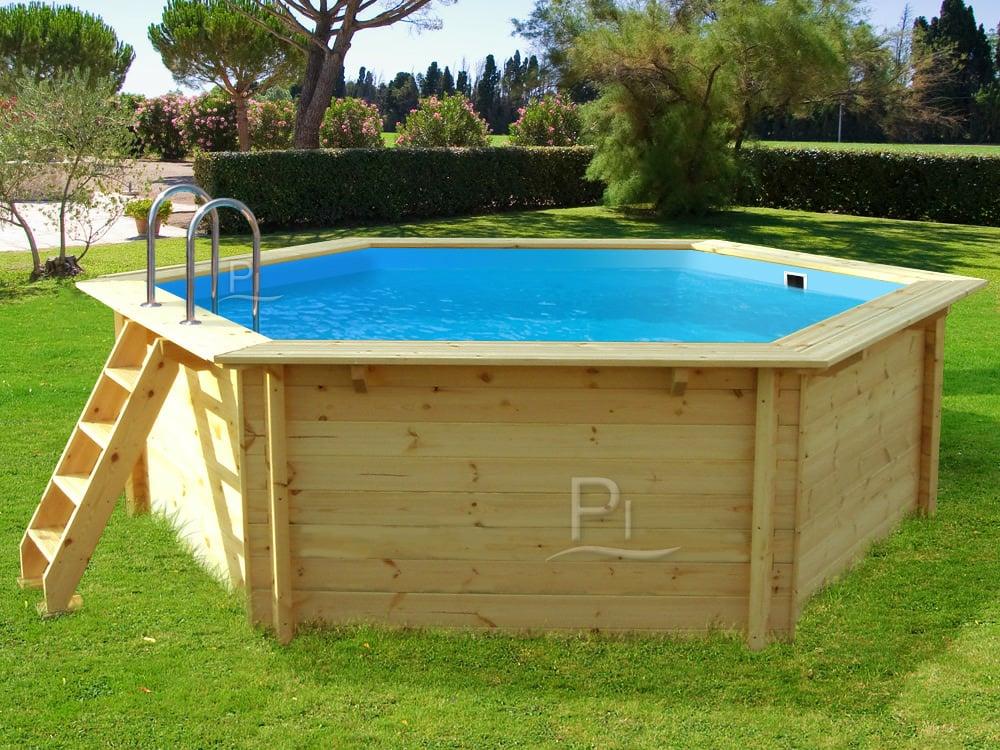 Piscineitalia piscina fuori terra in legno jardin 354 for Piscine italia