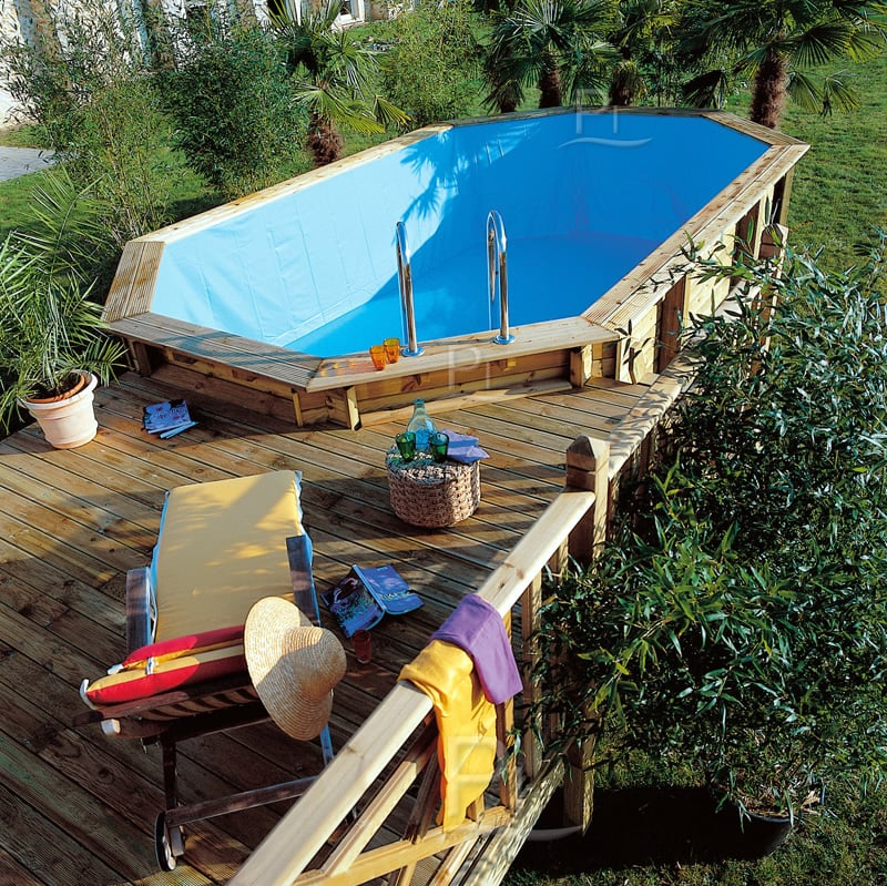 Piscina fuori terra in legno jardin 815 for Piscina esterna legno