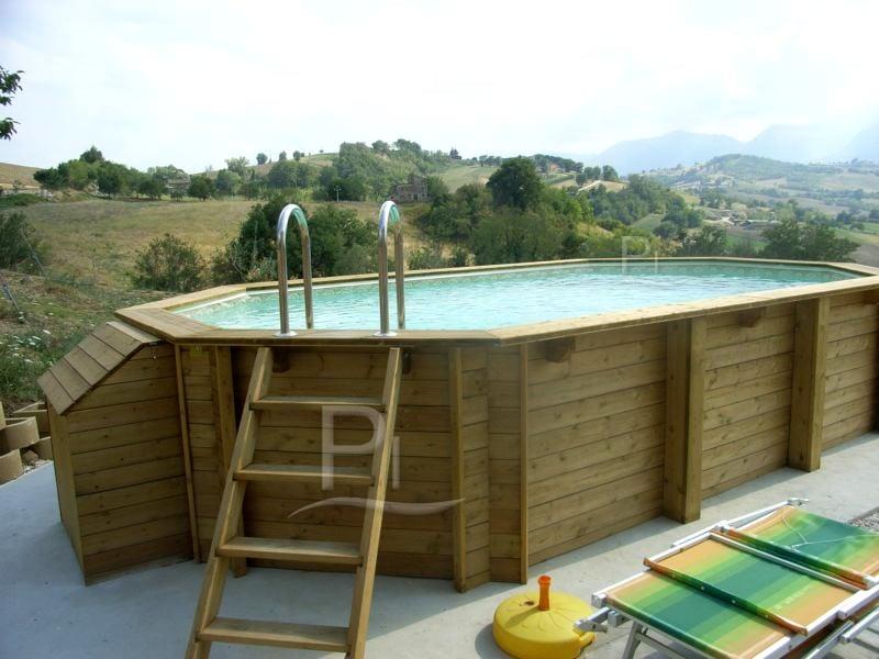 Piscina in legno fuori terra jardin 607 piscine italia - Piscine fuori terra in legno ...