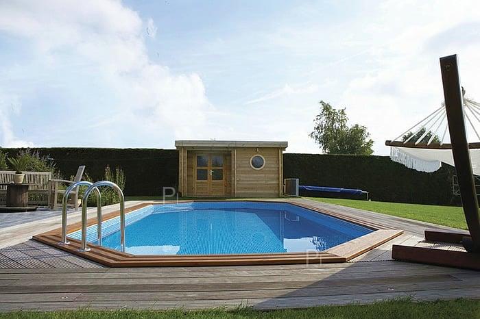 Piscineitalia piscina fuori terra in legno jardin 607 for Piscina fuori terra interrata