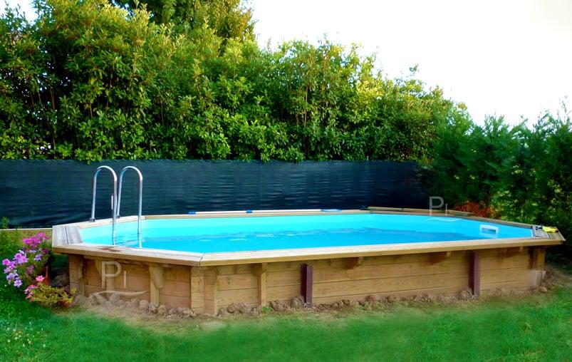 Piscina in legno fuori terra jardin 490 piscine italia - Piscine usate subito it ...