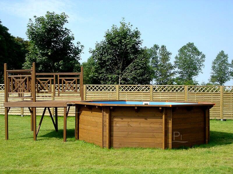 Piscina fuori terra in legno tropic 505 - Scala per piscina fuori terra ...
