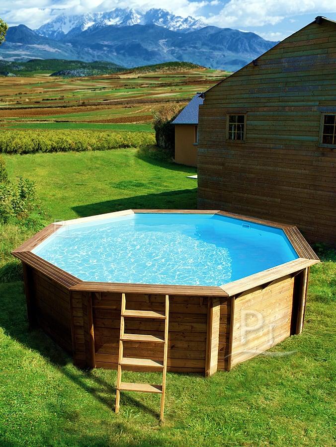 Piscina fuori terra in legno tropic 505 for Piscine hors sol guadeloupe