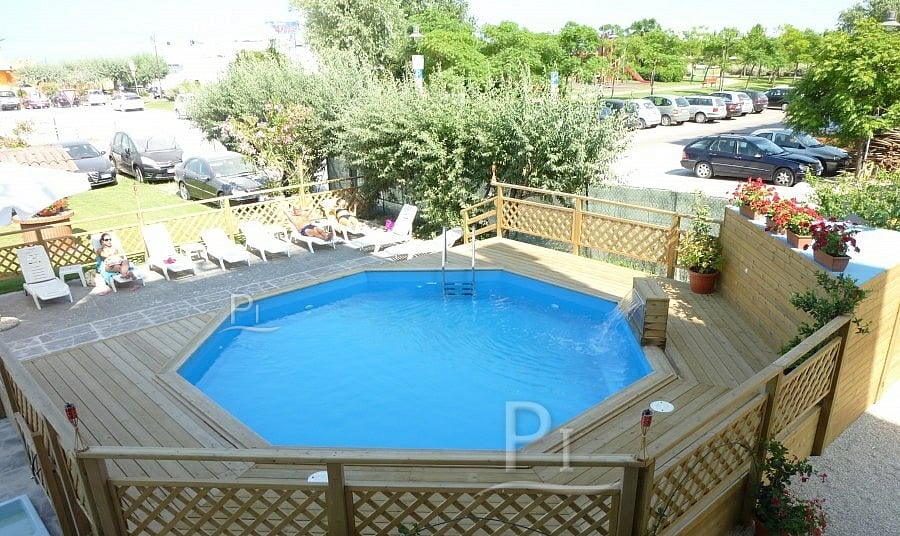 Piscina in legno fuori terra 3 jardin 537 kit interrata piscine italia - Piscina fuori terra interrata ...