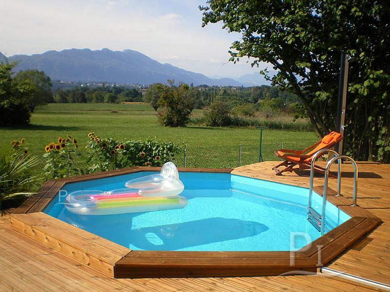 Piscineitalia piscina fuori terra in legno jardin 537 for Piscina fuori terra interrata
