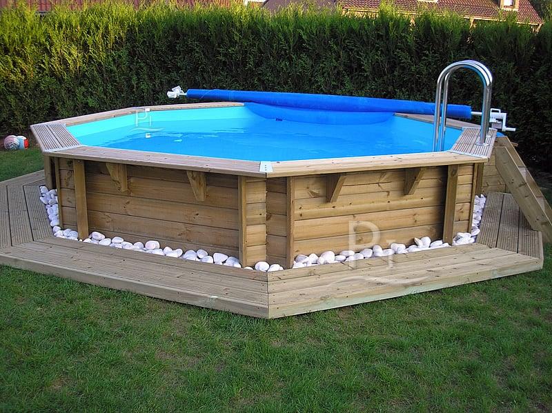 Piscineitalia piscina fuori terra in legno jardin 537 for Piscine italia