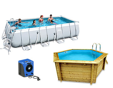 Pompa di calore per piscine in legno e piscine fuori terra Heat Hot Splash: facile da installare
