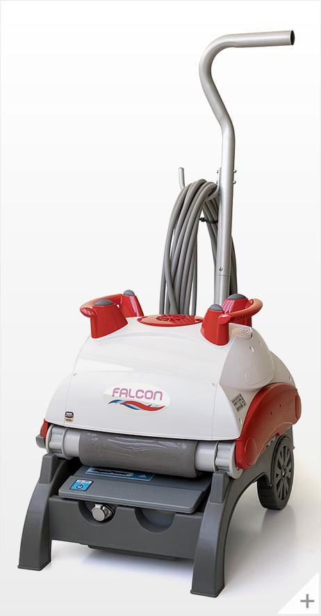 Robot pulitore piscina Falcon K200 - carrello vista sinistra