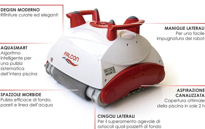 Robot pulitore piscina Falcon K200 dettagli