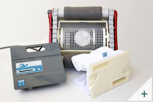 Robot pulitore piscina Falcon K200: sacco filtro e unità di controllo esterna