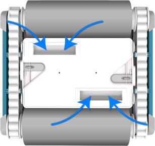 Robot automatico piscina per il fondo e pareti FRC 90: aspirazione di grande potenza