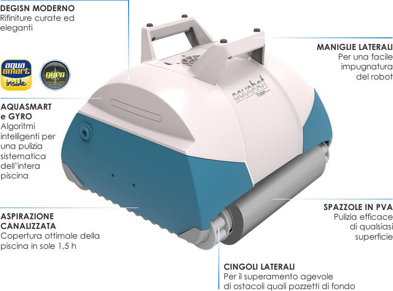 Robot automatico piscina per il fondo FRC 70: panoramica