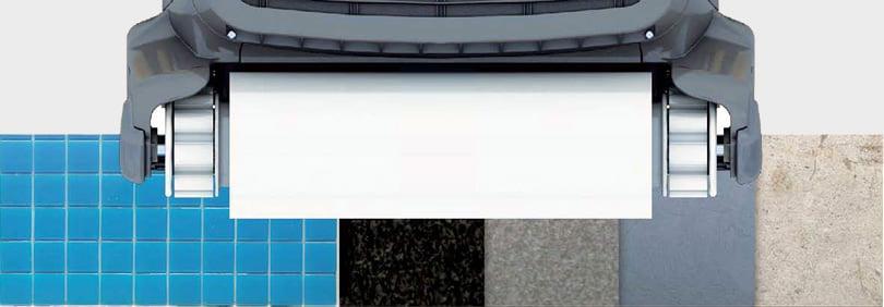 Robot automatico piscina per il fondo e pareti FRC 90: ruote in PVA per la massima aderenza alle superfici