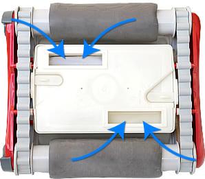 Robot pulitore piscina Falcon K200: aspirazione di grande potenza