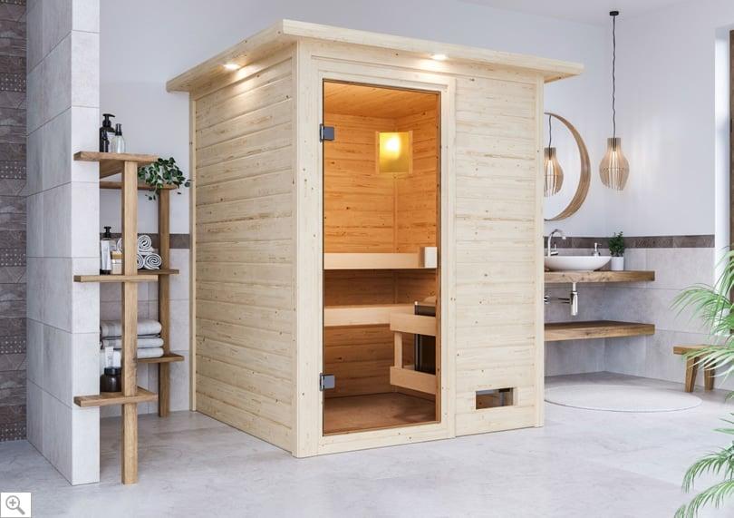 Sauna finlandese da interno Elena - cover